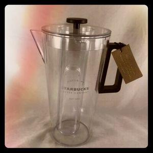 Starbucks pitcher